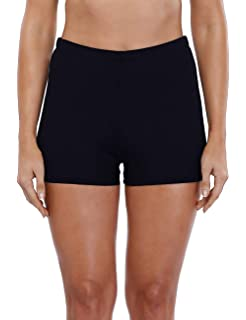 b61f24805a CharmLeaks Women's Stretch Swim Bottom Sport Board Shorts Solid Tankini  Shorts