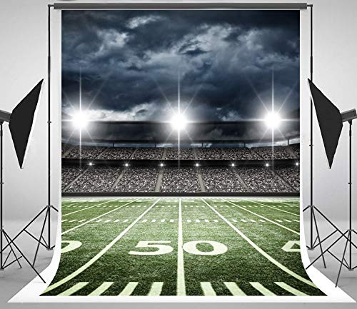 5x7ft sports football soccer stadium themed backdrop for nfl Computer printed party backdrops -