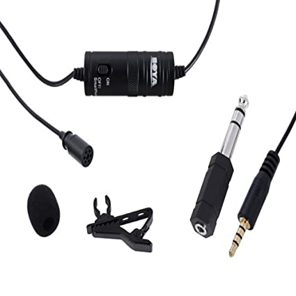 BOYA Omnidirectional Lavalier Microphone for Canon Nikon Sony,for iPhone 5 4S 4\DSLR Camcorder &amp; Audio Recorders <span at amazon