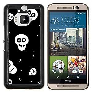 """Be-Star Único Patrón Plástico Duro Fundas Cover Cubre Hard Case Cover Para HTC One M9+ / M9 Plus (Not M9) ( Calaveras Estrellas Negro Blanco Wallpaper Smiley"""" )"""