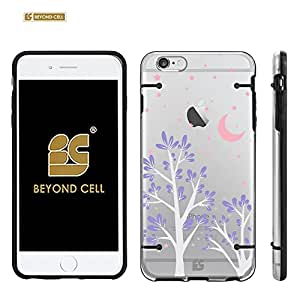 """Iphone 6 4.7"""" (T-mobile,AT&T,Verizon,Sprint,International)Beyond Cell ?Aquaflex? Series Premium Protection [Ultra Slim] Design Transparent Clear Hard Hybrid Case With Protective Bumper Around - Purple Night Design - Retail Packaging"""