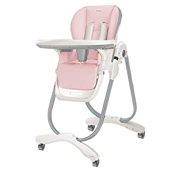 Beau Amazon.com : SpringBuds High Chair Adjustable Fold Baby High Chairs For  Babies And Toddlers With Lockable Wheels(Pink) : Baby