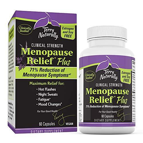 Terry Naturally Menopause Relief Plus – Rhodiola & Black Cohosh Complex, 60 Vegan Capsules – Hot Flash & Night Sweat…