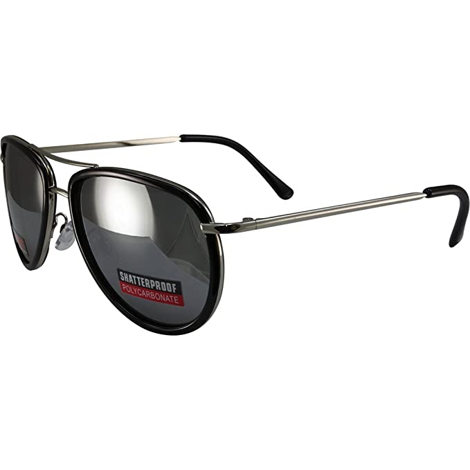 70205c780c Image Unavailable. Image not available for. Color  Swag Aviator Sunglasses  Black Trimmed Frames ...