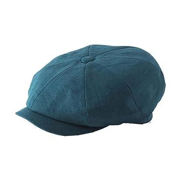 7367f7e0 Failsworth Hats Alfie Newsboy Baker boy Linen 8 Piece Cap - Petrol:  Amazon.co.uk: Clothing