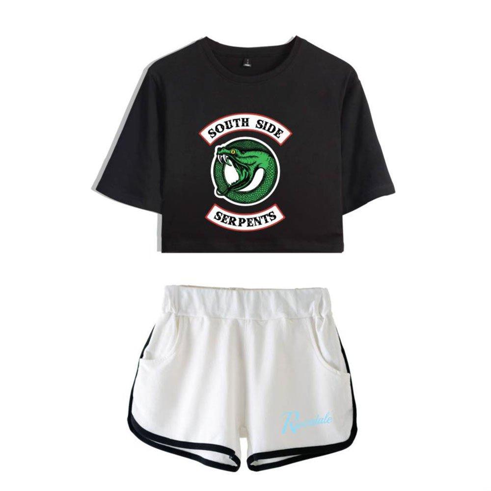 Riverdale Two Piece Set Top and Pants Tracksuit Summer Print Women Sets Clothes
