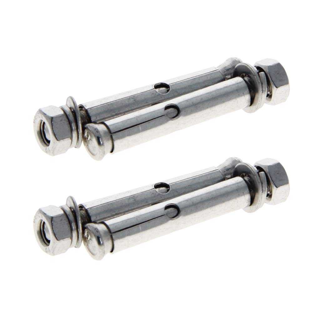 MroMax 5Pcs M8x60mm Hex Expansion Bolt Sleeve Expansion Screw 304 Stainless Steel External Furniture Bolts