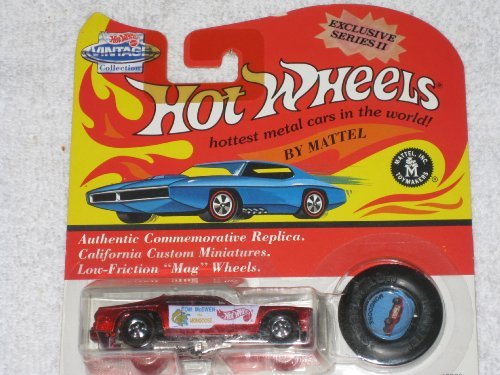 Hot Wheels 1993 Exclusive Series II Tom McEwen Red Mongoose with Matching Button