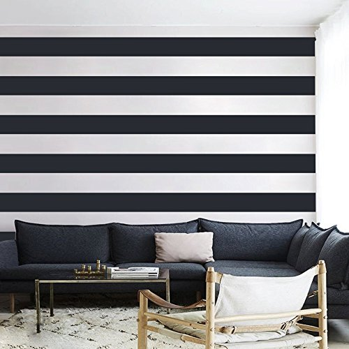 (Vinyl Wall Stripes Decal Stripes Wall Sticker Wall Graphic Mural Custom Decals Home Art Decoration (3 PACK))