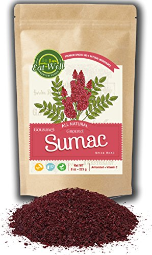 - Sumac Spice Powder | 8 oz Reseable Bag | Bulk Ground Turkish Sumac Berries - Bran Extra Grade Sumac Seasoning | Middle Eastern Spices | by Eat Well Premium Foods