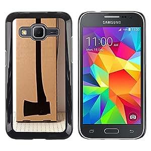 MobileHut / Samsung Galaxy Core Prime SM-G360 / Design Axe Deep Meaning Thought / Delgado Negro Plástico caso cubierta Shell Armor Funda Case Cover