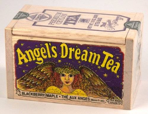 (Angel's Dream Maple Blackberry Flavored Ceylon Tea, 25 Bags in Decorative Wood Crate - SALE)