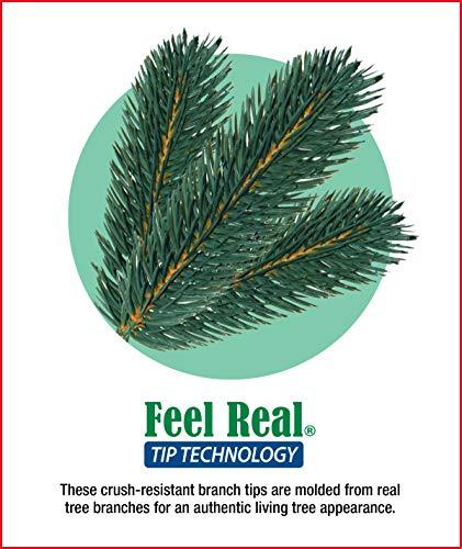 National Tree 7.5 Foot Feel Real Downswept Douglas Fir Tree, Hinged (PEDD1-503-75)