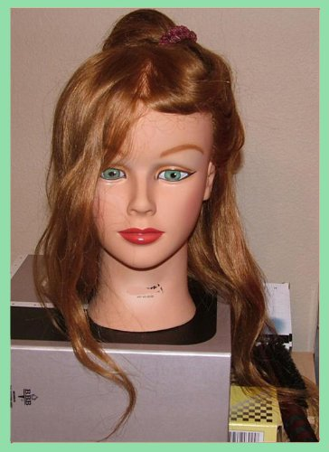 Mannequin Female Hairart - Professional Mannequin Beautiful Female Head Real Hair Will Fit All Holders