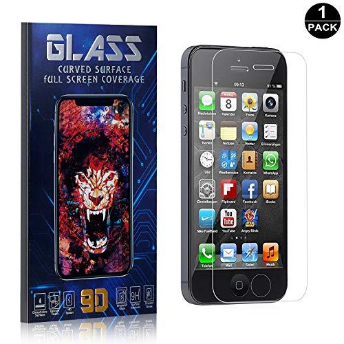 iPhone SE / 5S / 5 Screen Protector, UNEXTATI Premium HD [Anti Scratch] [Anti-Fingerprint] Tempered Glass Screen Protector Film for iPhone SE / 5S / 5 (1 Pack) ()