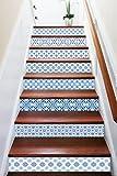 3D Clear Blue Pattern 7843 Stair Risers Decoration Photo Mural Vinyl Decal Wallpaper Murals Wallpaper Mural US Lemon (15x H:18cm x W:94cm (7''x37''))