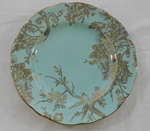 222 Fifth Adelaide Turquoise & Gold Dinner Plates Set of 4