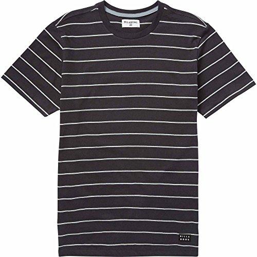 Billabong Men's Die Cut Stripe Short Sleeve Top, Asphalt, (Die Cut Top)