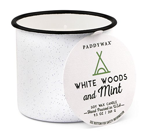 Paddywax Alpine Collection Scented Soy Wax Candle, 9.5-Ounce, Woods & Mint (Candle Mint Soy)