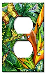 Art Plates - Frog & Butterflies Switch Plate - Outlet Cover