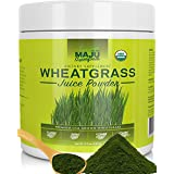 MAJU'S Organic Wheatgrass Juice Powder, USA Grown, Volcanic Soil