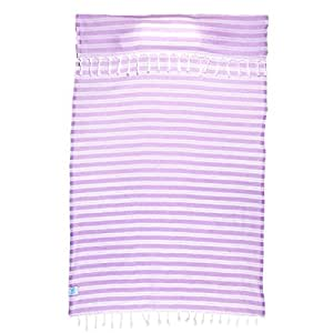 Pillow Beach Blanket Towel with Built-in Pillow (Lavender)