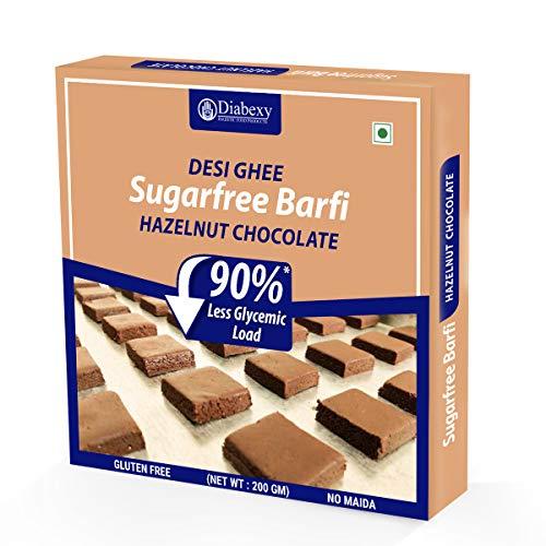 Diabexy Desi Ghee Sugar Free Chocolate Hazelnut barfi for Diabetics- 200g