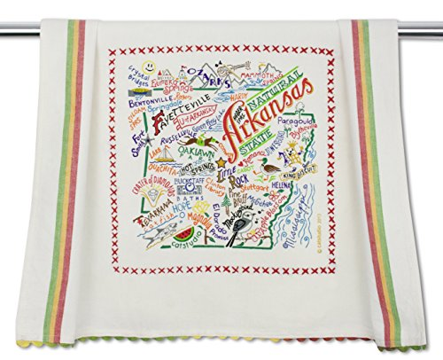 Catstudio | Arkansas Dish Cloth, Tea Towel or Decorative Hand Towel | Geography Collection | 20