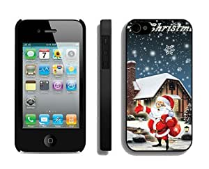 Featured Desin Santa Claus iPhone 4 4S Case 15 Black by Maris's Diary