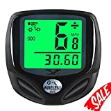 007KK Bike Speedometer Waterproof Wireless Bicycle Bike Computer and Cycling Odometer with Automatic Wake-up Multi-Function LCD Backlight Display