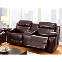 Furniture of America Derick 2-Recliner Love Seat