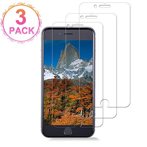 [3 Pack] Iphone8/7/6S Plus and Iphone6 Plus Glass Screen Protector Loopilops Tempered Glass Screen Protector [No Bubbles][9H Hardness] Compatible with iPhone 8/7/6S Plus and 6Plus[5.5 Inch]