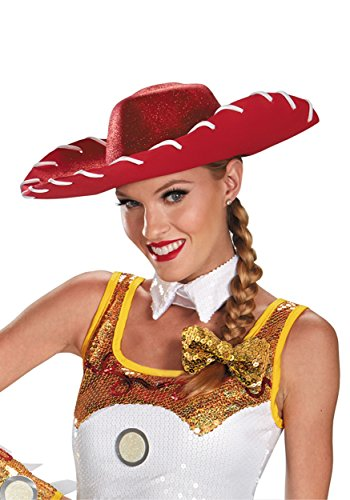 JESSIE GLAM COSTUME HAT & BOW SET - Toy Story Character Costumes For Adults