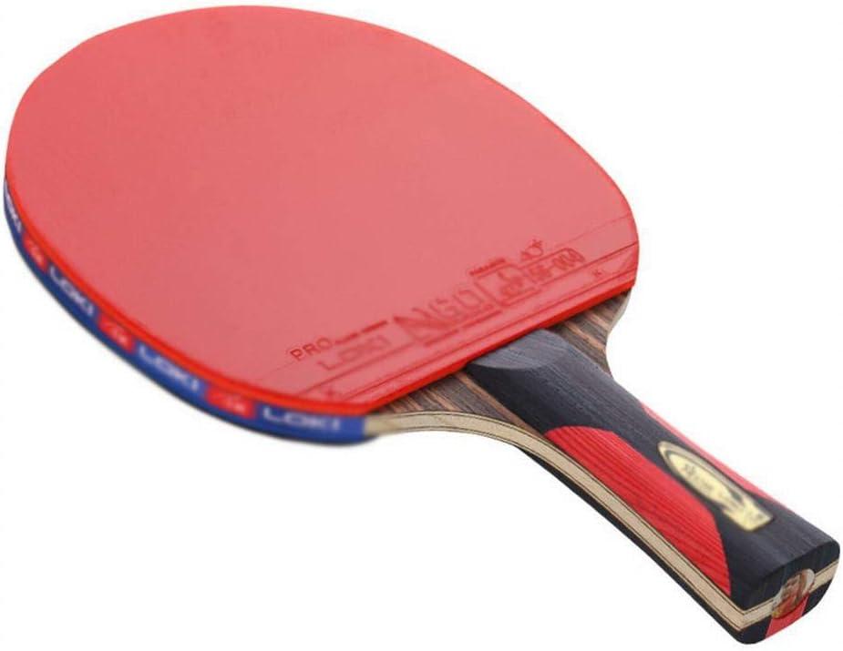 KDXBCAYKI Bate De Tenis De Mesa De Seis Estrellas, Bate De Tenis De Mesa, Bate Terminado, Equipamiento Deportivo For Exteriores, Artículos Deportivos