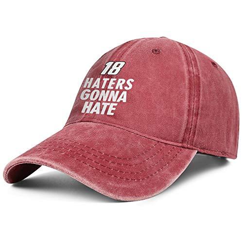 sknkdhgiJ Unisex WomensFashion Running Kyle Busch Haters Gonna Hate Pigment Cap Hat Low Profile Kyle-Busch-Haters-Gonna-Hate- -