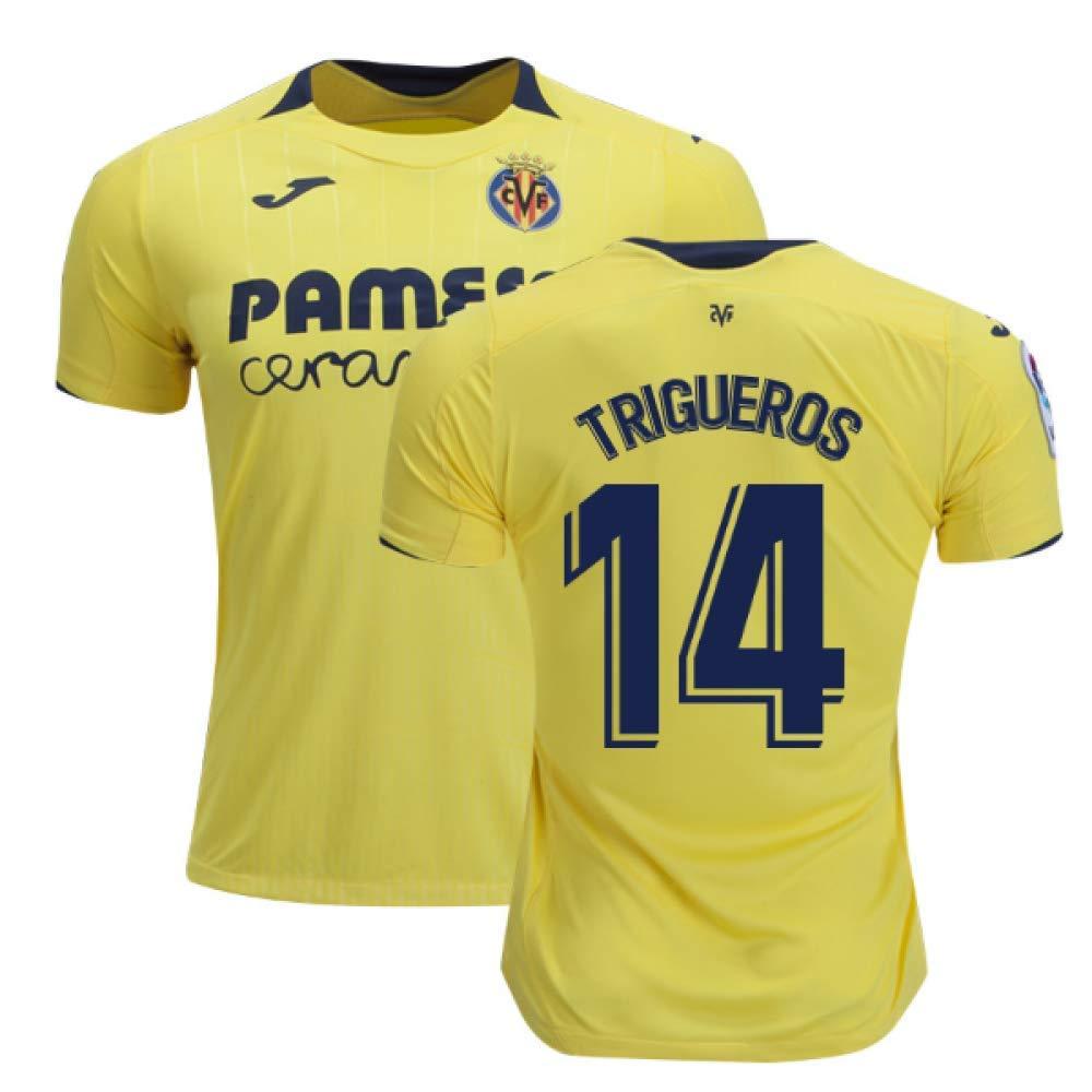 2018-2019 Villarreal Joma Home Football Soccer T-Shirt Trikot (Manu Trigueros 14)