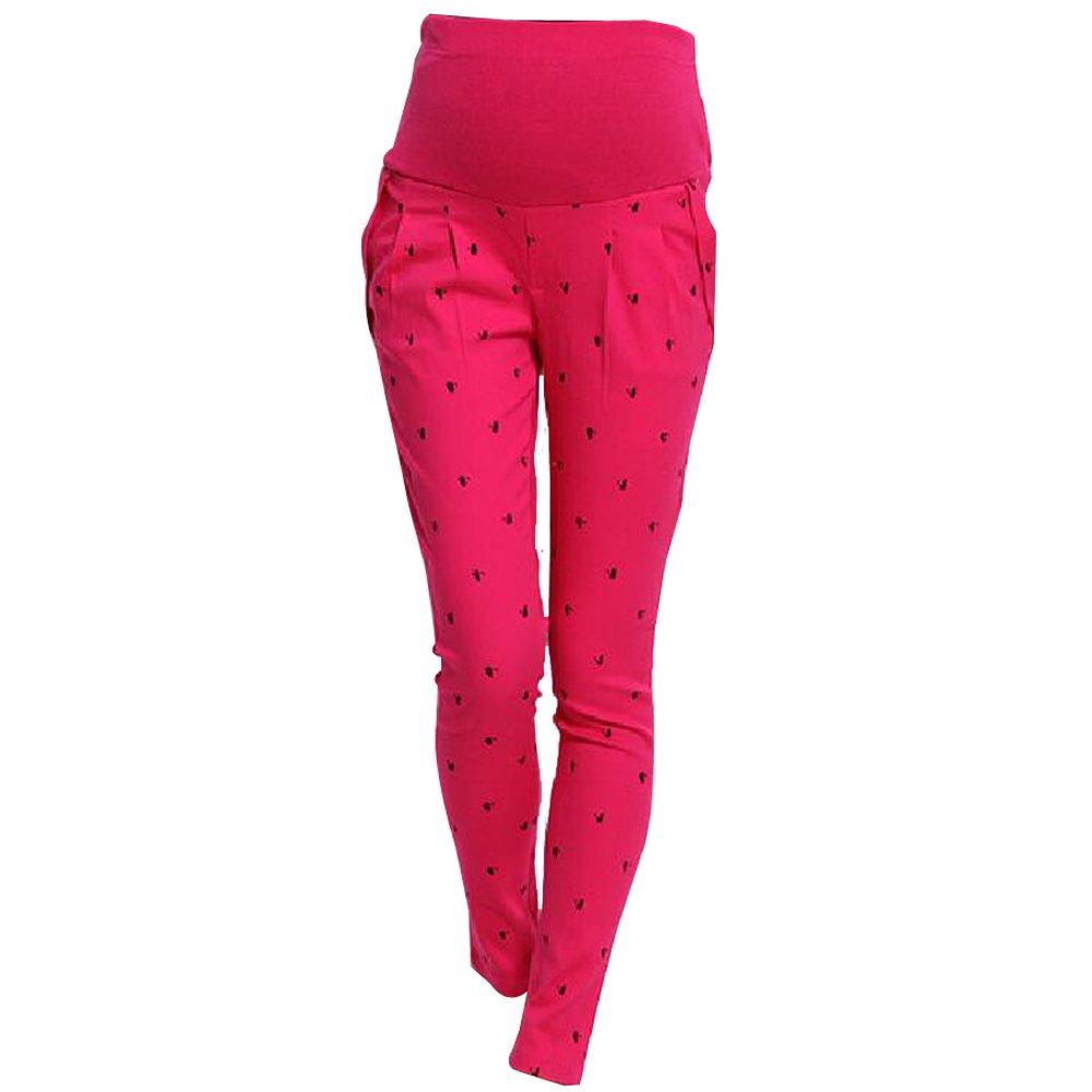BOZEVON Pregnant Women Abdominal Pants Maternity High Elastic Trousers Belly Leggings