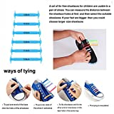 The Elastic Tie-Free and Wash-Free Silicone Shoelaces (Colorful Black and White)