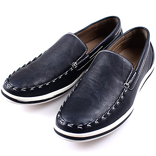 New Polytec Comfort Basic Casual Formale Uomo Vestito Penny Loafer Slip On Shoes Blu
