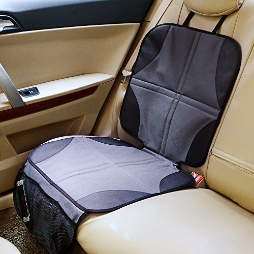 Ohuhu 4 Packs Baby Child Car Seat Protectors and Kick Mat Car Back Seat Cover - 2 Sets Auto Seat Cover for Carseats and Kids Kick Mats with Backseat Organizer Pockets Storage - Perfect for Dog Mats by Ohuhu (Image #6)