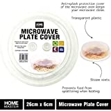 Food Safe Plastic Microwave Dome Plate Lid Dish Cover Splatter Proof