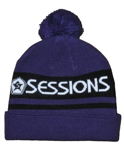 Sessions Men's Runaway Beanie, Blue, One Size Fits All (Beanie Runaway)