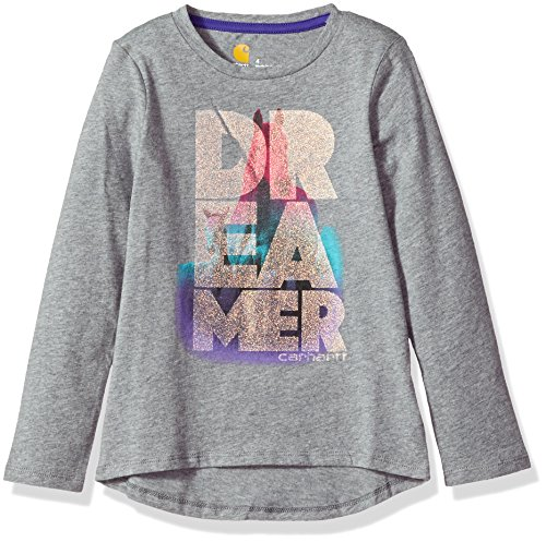 Price comparison product image Carhartt Big Girls' Horse Dreamer Watercolor Tee,  Dark Grey,  S-8