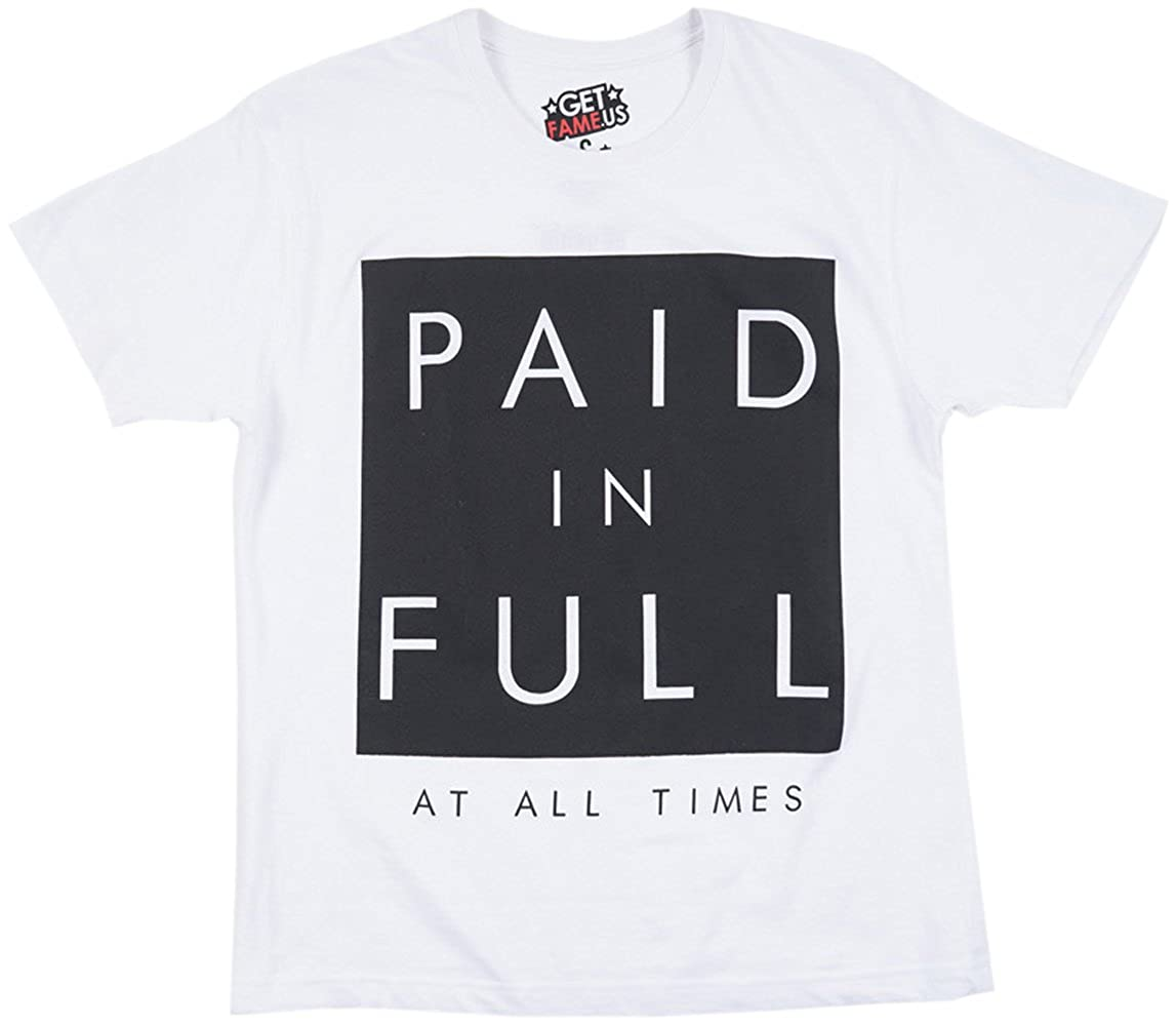 Amazon 313 Graphic Tees Paid In Full At All Times Mens T Shirt