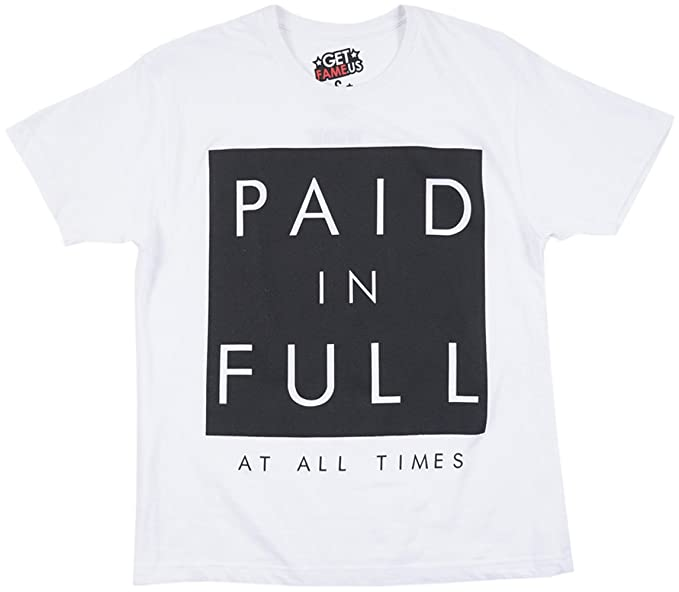 b09fe4115cd3f Amazon.com  313 Graphic Tees Paid in Full at All Times Men s T-Shirt ...