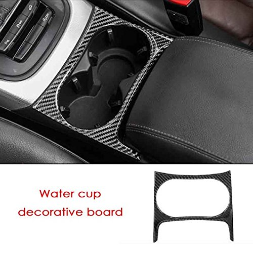 Carbon Fiber Interior Decoration Decal Frame Cover Trim Sticker ABS SLine Quattro For AUDI Q5 First generation B8 Typ 8R 2008-2017 (Water Cup Holder Frame Cover)