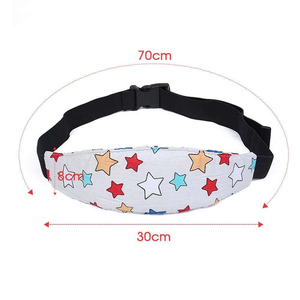 cintur/ón de Seguridad Ajustable para el Coche para beb/és Asiento de Seguridad Correa Fija para la Cabeza de los ni/ños VEVICE