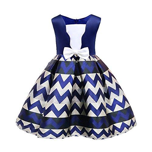 Goddessvan Christmas Baby Dress,Floral Baby Girl Striped Bow Princess Bridesmaid Birthday Party Wedding Dress from Goddessvan