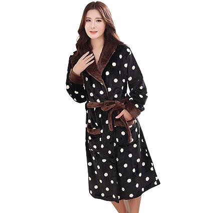 cc81e9df10f5 Amazon.com  WL Robe Women s Men s Flannel Solid Color Wrap Robe ...