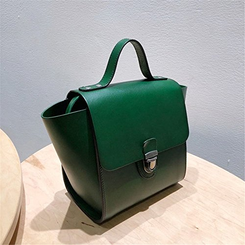 Layer Leather Messenger Handbags color Ladies Top Handbag Jxth handle Vintage Green Green Gifts Dark Bag Female Casual Tote Satchel t0wpgXq
